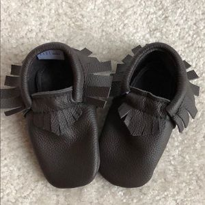 Bare Soles brown leather moccasins 12-18 month